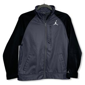 Youth Nike Jordan Full Zip Jacket Black/Gray